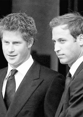 Prince William and Prince Harry, members of the British royal family